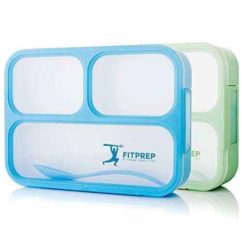 FITPREP® Premium Lunchbox für Kinder & Erwachsene I 2 Stück