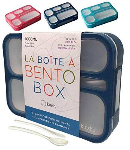 KINSHO Bento-Box Lunch Containers for Kids & Adults