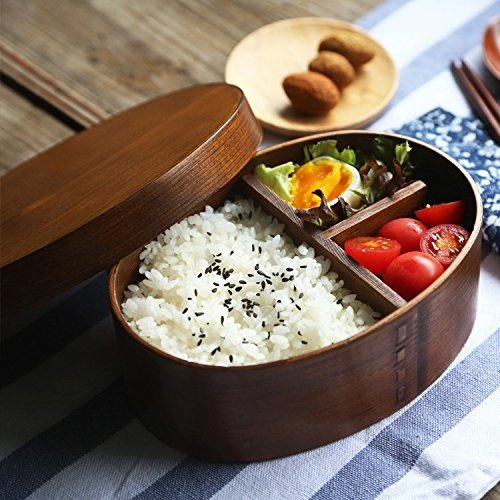 Holz-Bento-Box, Sushi-Box im jap. Stil, wiederverwendbar